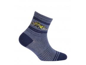 Chlapecké vzorované ponožky GATTA BULDOZER modré