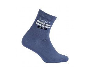 Chlapecké vzorované ponožky GATTA LOGIN modré