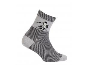 Chlapecké vzorované ponožky GATTA FOTBALISTA šedé
