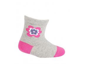 Kojenecké ponožky WOLA KYTIČKA šedé