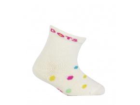Kojenecké ponožky WOLA DOTS smetanové