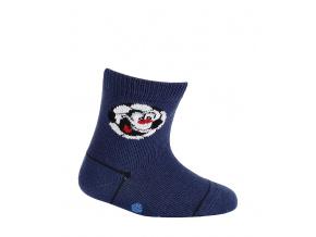 Kojenecké chlapecké ponožky WOLA MÍČ tmavě modré