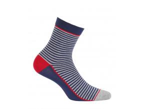 Dětské ponožky WOLA PROUŽKY modré