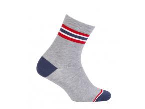 Chlapecké ponožky WOLA PROUŽKY šedé