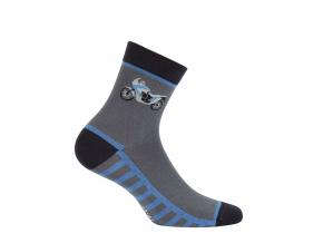 Chlapecké ponožky WOLA MOTORKA šedé