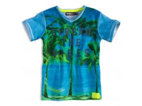 Chlapecké tričko DIRKJE SPREAD THE VIBE modré