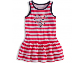 Dívčí šaty LOSAN SAILOR LOVE červené