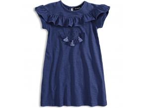 Dívčí šaty Mix´nMATCH FRINGE tmavě modré