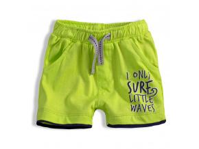 Chlapecké šortky KNOT SO BAD LITTLE WAVES zelené