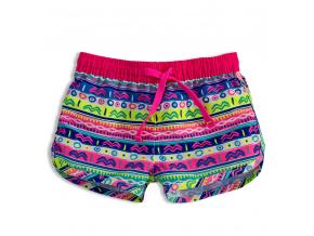 Dívčí plážové šortky KNOT SO BAD ORNAMENT růžové
