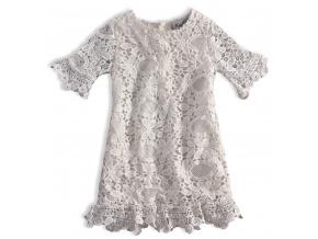 Dívčí krajkové šaty KNOT SO BAD KRAJKA bílé
