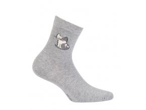 Dívčí vzorované ponožky GATTA KOČKA šedé