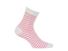 Dívčí ponožky GATTA PROUŽKY růžové