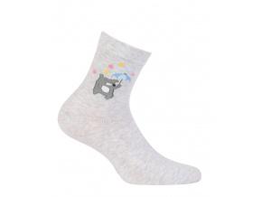 Dívčí ponožky GATTA MEDVÍDEK šedé