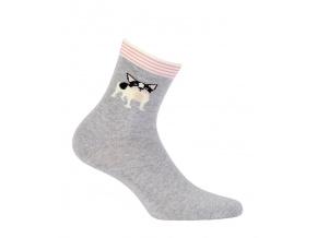 Dívčí vzorované ponožky GATTA PES šedé