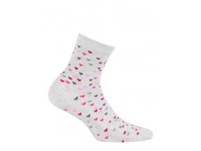 Vzorované dívčí ponožky GATTA SRDÍČKA šedé