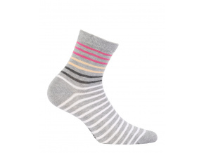 Dívčí ponožky GATTA PROUŽKY šedé