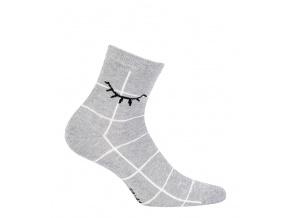 Dívčí ponožky se vzorem GATTA šedé