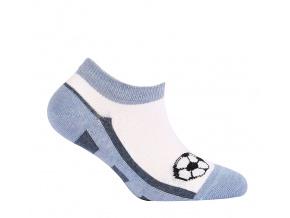 Chlapecké kotníkové ponožky WOLA MÍČ modré