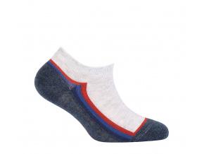Chlapecké kotníkové ponožky WOLA PROUŽEK modré