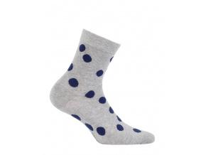Dívčí vzorované ponožky WOLA modré PUNTÍKY