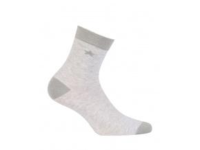 Dívčí vzorované ponožky WOLA HVĚZDA šedé