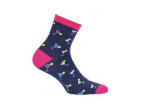 Dívčí ponožky se vzorem WOLA PARTY modré