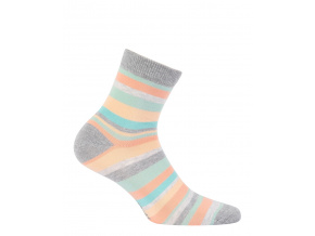 Dívčí ponožky WOLA PROUŽKY šedé