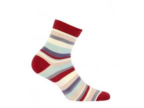 Dívčí ponožky WOLA PROUŽKY cihlové