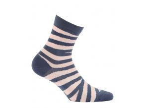 Dívčí ponožky WOLA PROUŽKY modré