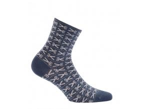 Dívčí ponožky se vzorem WOLA NŮŽKY modré