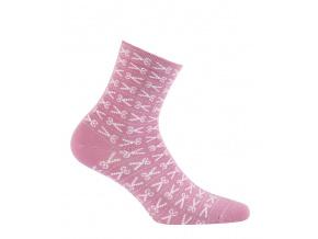 Dívčí ponožky se vzorem WOLA NŮŽKY růžové