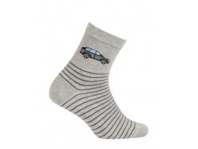 Chlapecké vzorované ponožky WOLA AUTO šedé