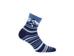 Chlapecké ponožky se vzorem WOLA FOTBALISTA modré