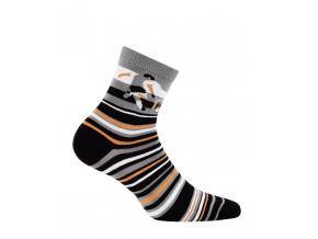 Chlapecké ponožky se vzorem WOLA FOTBALISTA šedé