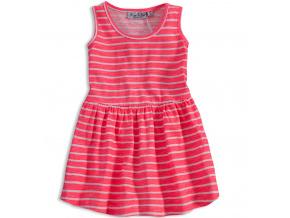 Dívčí šaty KNOT SO BAD PROUŽKY růžové