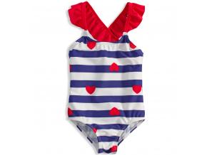 Dívčí plavky KNOT SO BAD HEART modré