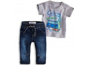 Chlapecká souprava BABALUNO OCEANSIDE šedé tričko