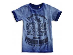 Chlapecké triko KNOT SO BAD BEST JEANS modré