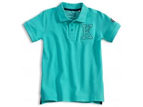 Chlapecké polo tričko KNOT SO BAD K  tyrkysové