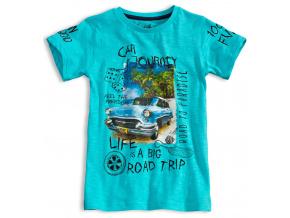 Chlapecké tričko KNOT SO BAD ROAD TRIP tyrkysové