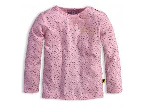 Dívčí triko s dlouhým rukávem DIRKJE LITTLE LADY růžové