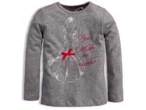 Dívčí triko KNOT SO BAD WONDER šedé