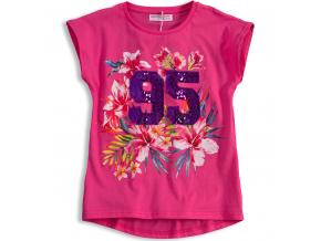 Dívčí tričko MINOTI FEVER růžové