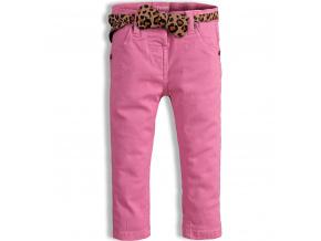 Dívčí kalhoty MINOTI PARTY světle růžové