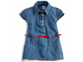 Dívčí džínové šaty DIRKJE ADVANTURE modré