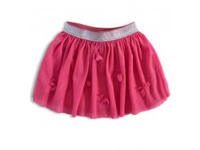 Dívčí tutu sukně KNOT SO BAD MOTÝLI růžová