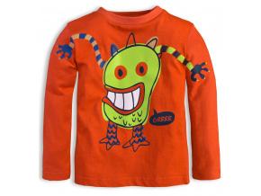 Dětské triko KNOT SO BAD MONSTER oranžové