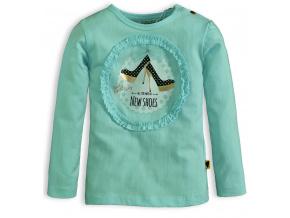 Dětské triko DIRKJE LITTLE LADY zelené