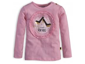 Dívčí triko DIRKJE LITTLE LADY růžové